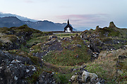 Budir church in west iceland Snaefellsnes