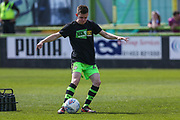 Forest Green Rovers Tom Anderson(27) warming up during the EFL Sky Bet League 2 match between Forest Green Rovers and Grimsby Town FC at the New Lawn, Forest Green, United Kingdom on 5 May 2018. Picture by Shane Healey.