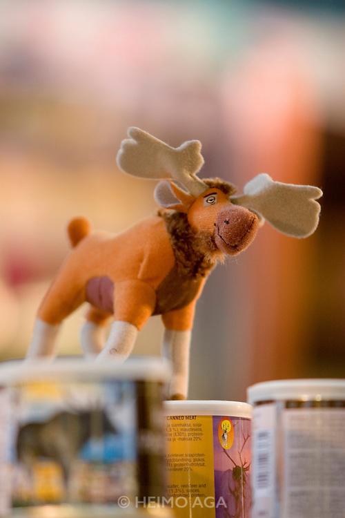 Kauppatori (Market Square). The Old Market Hall. Elk (moose) meat.
