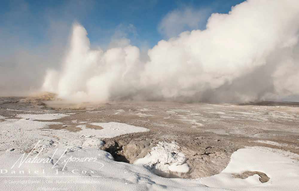 Clepsydra Geyser in the Lower Geyser Basin, Yellowstone National Park, Wyoming