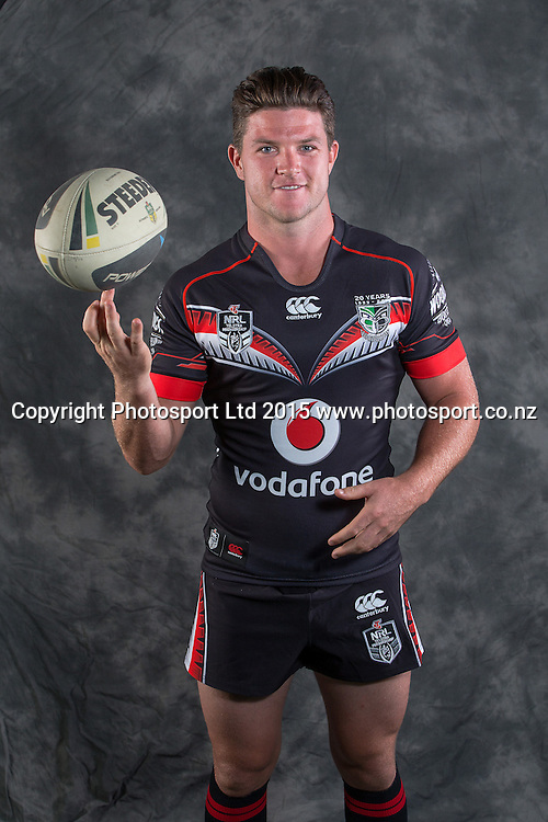 Chad Townsend, Vodafone Warriors Photo Session, Mount Smart Stadium, Auckland, New Zealand, Wednesday, January 14, 2015.  Photo: David Rowland/www.photosport.co.nz