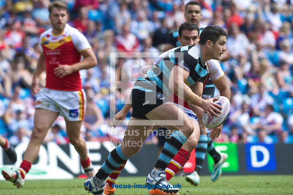 Ben Farrar of London Broncos during the First Utility Super League match at the Etihad Stadium, Manchester<br /> Picture by Ian Wadkins/Focus Images Ltd +44 7877 568959<br /> 17/05/2014