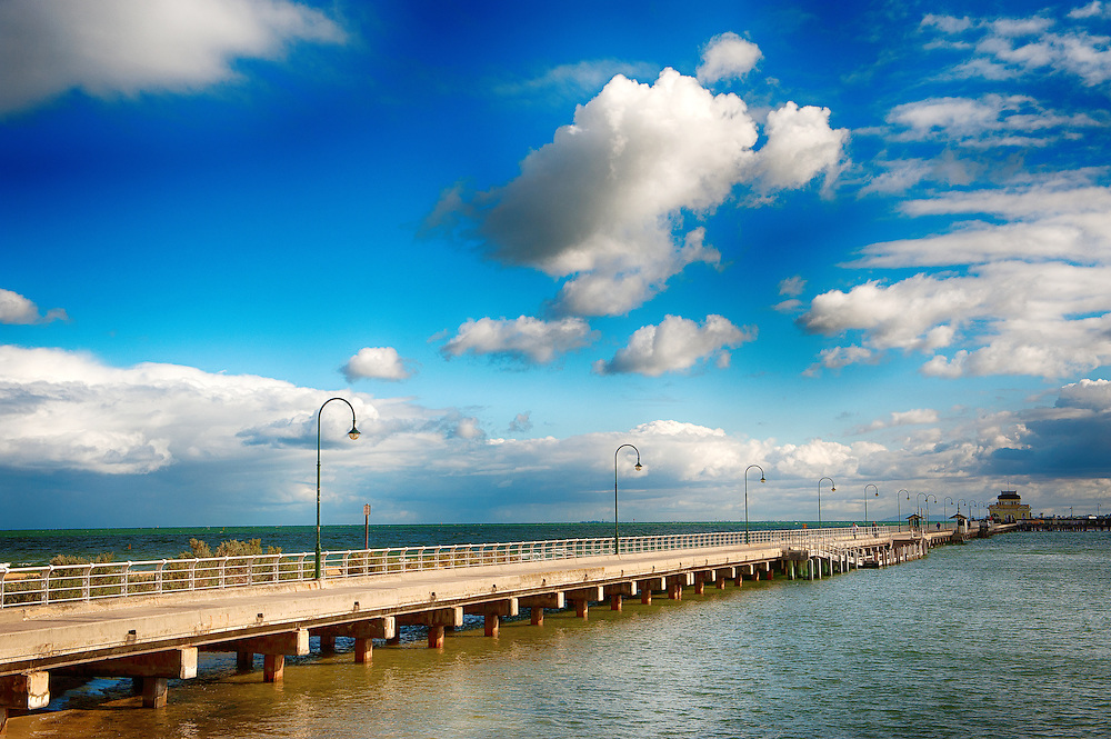 St Kilda Jetty at Melbourne of Australia