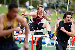 Men's running from the 2016 Eason Invitational track and field meet at Snohomish High School.