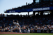 San Francisco Giants relief pitcher Josh Osich (61) pitches against the San Diego Padres at AT&T Park in San Francisco, Calif., on September 14, 2016. (Stan Olszewski/Special to S.F. Examiner)