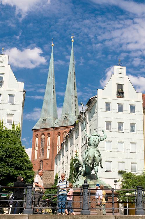 The Nicolai church in the Nicolai area,Berlin, Germany