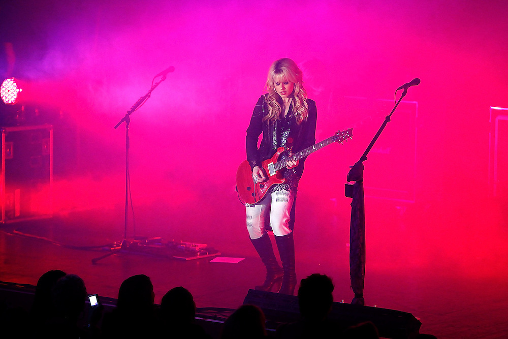 NEW YORK - JUNE 22:  Singer Orianthi performs at the Nokia Theatre on June 22, 2010 in New York City.  (Photo by Joe Kohen/WireImage)