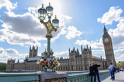© Licensed to London News Pictures. 18/04/2017. London, UK. The Palace of Westminster and Houses of Parliament are seen from Westminster Bridge on the day when Theresa May, Prime Minister, announced that a general election will be called on 8 June 2017. Photo credit : Stephen Chung/LNP