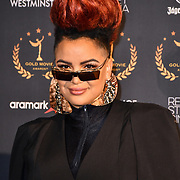 Eva Simons arrivers at Gold Movie Awards at Regents Street Theatre, on 9th January 2020, London, UK.