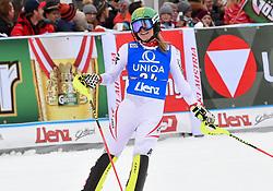 28.12.2017, Hochstein, Lienz, AUT, FIS Weltcup Ski Alpin, Lienz, Slalom, Damen, 2. Lauf, im Bild Katharina Liensberger (AUT) // Katharina Liensberger of Austria reacts after her 2nd run of ladie's Slalom of FIS ski alpine world cup at the Hochstein in Lienz, Austria on 2017/12/28. EXPA Pictures © 2017, PhotoCredit: EXPA/ Erich Spiess