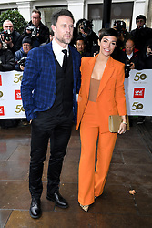Wayne Bridge and Frankie Bridge attending the TRIC Awards 50th Birthday held at The Grosvenor House Hotel, London. Picture Credit Should Read: Doug Peters/EMPICS