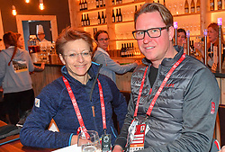 05.02.2019, Aare, SWE, FIS Weltmeisterschaften Ski Alpin, TirolBerg, Roundtablegespraech zum Thema the Comeback of the major sport events in europe, im Bild Sarah Lewis (Secretary General FIS) und Mats Årjes (CEO Skistar) // during a round table talk about the comeback of the major sports events in europe at TirolBerg for the FIS Ski Alpine World Championships 2019 in Aare, Sweden on 2019/02/05. EXPA Pictures © 2019, PhotoCredit: EXPA/ Erich Spiess