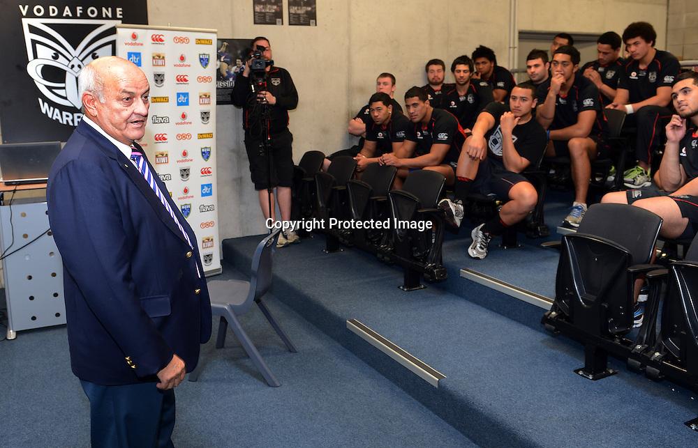 Owen Glenn, Warriors Extend the Dream graduation ceremony and scholarship presentation to Junior Warriors players, Vodafone Warriors, Mt Smart Stadium, Auckland. 17 July 2012. Photo: Andrew Cornaga/photosport.co.nz