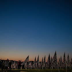 The sunt sets on the Field of Heroes in Westerville on May 24th, 2013. (Christina Paolucci, photographer).