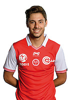 Gregory Berthier of Reims during the photocall of Reims for new season of Ligue 2 on September 29th 2016 in Reims<br /> Photo : Stade de Reims / Icon Sport