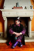 BOY GEORGE IN HIS KITSCH HOUSE IN HAMPSTEAD.   HE AND OTHER BAND MEMBERS ARE GETTING CULTURE CLUB TOGETHER AGAIN<br />