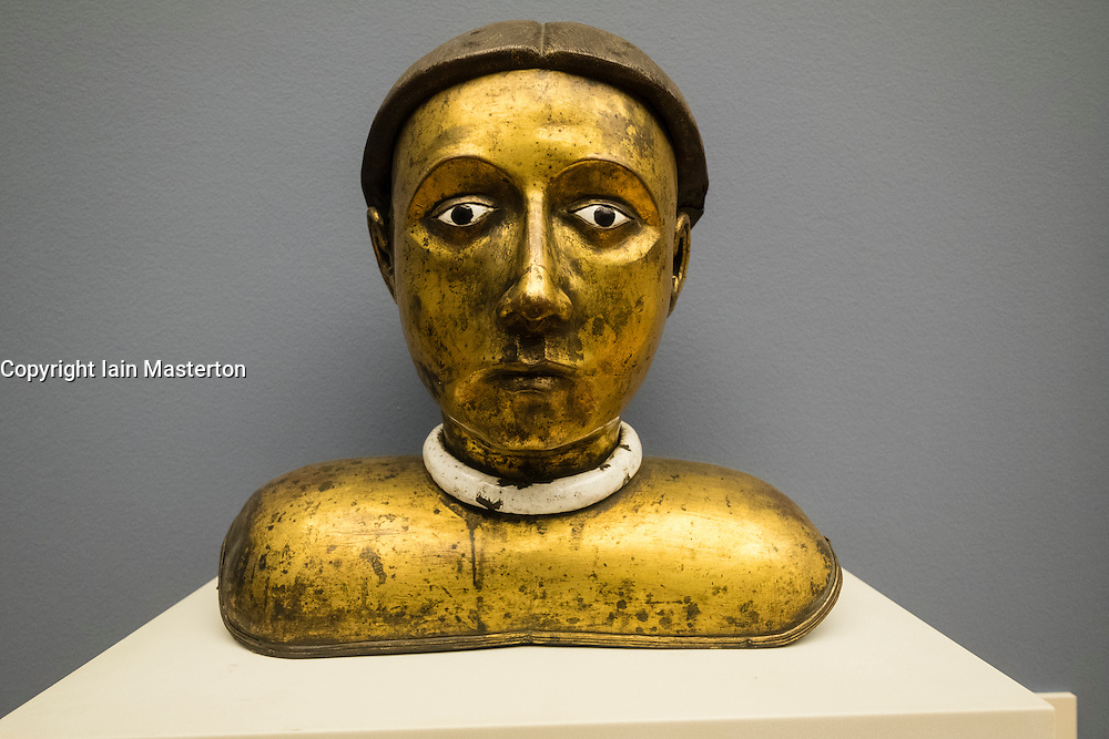 Reliquary Bust of Male Saint  in Bode Museum , Berlin, Germany