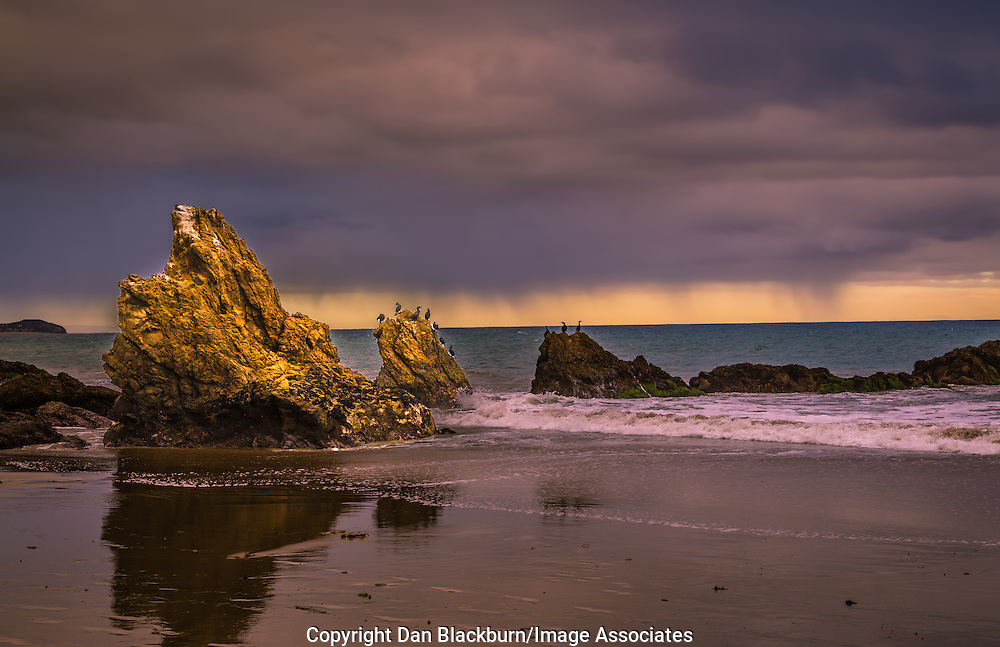 Winter Storm at Sunset on El Matador Beach California