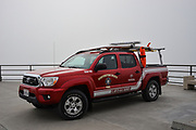 Huntington Beach Lifeguard Truck on the Pier