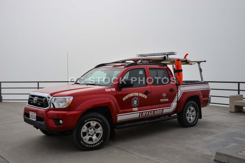 Huntington Beach Lifeguard Truck on the Pier