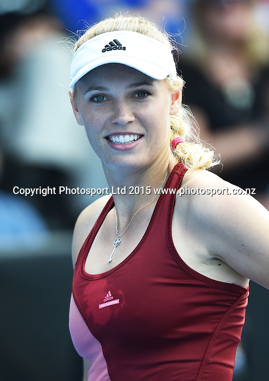 Denmark's Caroline Wozniacki during Semi Finals day at the ASB Classic WTA International. ASB Tennis Centre, Auckland, New Zealand. Friday 9 January 2015. Copyright photo: Andrew Cornaga/www.photosport.co.nz