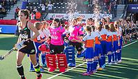 AMSTELVEEN -   line up Duitsland    voor de halve finale  Nederland-Duitsland van de Pro League hockeywedstrijd dames. COPYRIGHT KOEN SUYK
