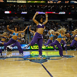 December 29, 2010; New Orleans, LA, USA; New Orleans Hornets Honeybees dancers perform during the second half of a game against the Los Angeles Lakers at the New Orleans Arena. The Lakers defeated the Hornets 103-88.  Mandatory Credit: Derick E. Hingle