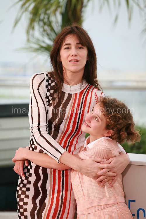 Charlotte Gainsbourg and Giulia Salerno at the photo call for the film Misunderstood (Incompresa) at the 67th Cannes Film Festival, Thursday 22nd May 2014, Cannes, France.