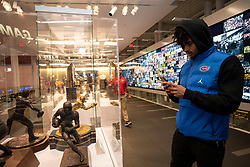 The Florida Gators tour the College Football Hall of Fame on Wednesday, December 26, 2018, in Atlanta. Florida will face Michigan in the 2018 Chick-fil-A Peach Bowl NCAA football game on December 29, 2018. (Paul Abell via Abell Images for the Chick-fil-A Peach Bowl)