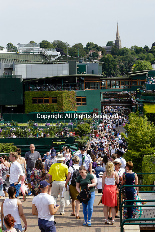 03.07.2015.  Wimbledon, England. The Wimbledon Tennis Championships. General view of the grounds at Wimbledon