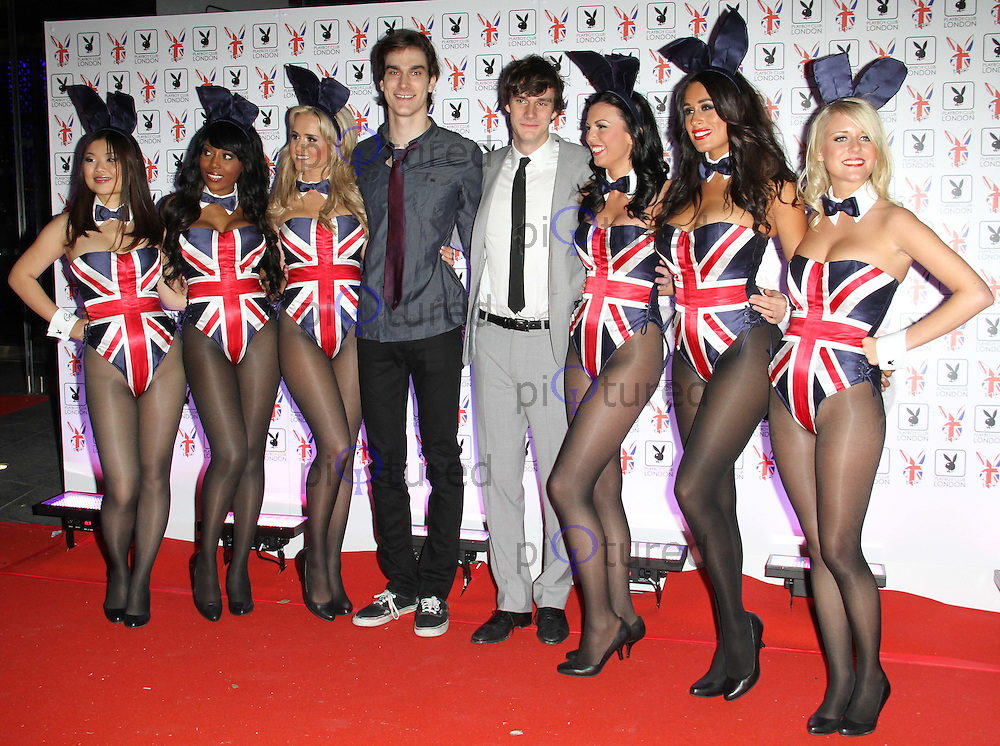 Marston & Cooper Hefner; Playboy Bunnies Playboy Club London Gala Launch Party, London, UK, 04 June 2011:  Contact: Rich@Piqtured.com +44(0)7941 079620 (Picture by Richard Goldschmidt)