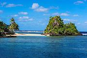 Little beach on the east coast of Tutuila island, American Samoa, South Pacific