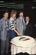 Scudetti 1987. Le premiazioni a Milano<br /> mike d'antoni, dan peterson, aldo corno, caterina pollini