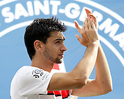 Javier Pastore of PSG lines up before the match.<br /> Toulouse v Paris Saint Germain (1-3), Ligue 1, Stade Municipal, Toulouse, France, 28th August 2011.
