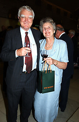 SIR MARK & LADY MOODY-STUART former Chairman of Shell PLC at a concert performance of Death in Venice by Benjamin Britten in aid of The Venice in Peril Fund held at the Queen Elizabeth Hall, London on 30th June 2004.  Before the concert a cheque for 1 Million Pounds was presented by Pizza Express to the The Venice in Peril Fund.