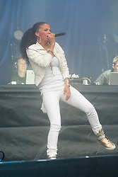 Ms Dynamite joins Magnetic Man play on the Main Stage..Rockness, Saturday, 11th June 2011..RockNess 2011, the annual music festival which takes place in Scotland at Clune Farm, Dores, on the banks of Loch Ness near Inverness..Pic ©2011 Michael Schofield. All Rights Reserved..