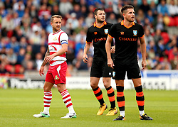 James Coppinger of Doncaster Rovers is marked by Daniel Pudil and Sam Hutchinson of Sheffield Wednesday - Mandatory by-line: Robbie Stephenson/JMP - 26/07/2017 - FOOTBALL - The Keepmoat Stadium - Doncaster, England - Doncaster Rovers v Sheffield Wednesday - Pre-season friendly