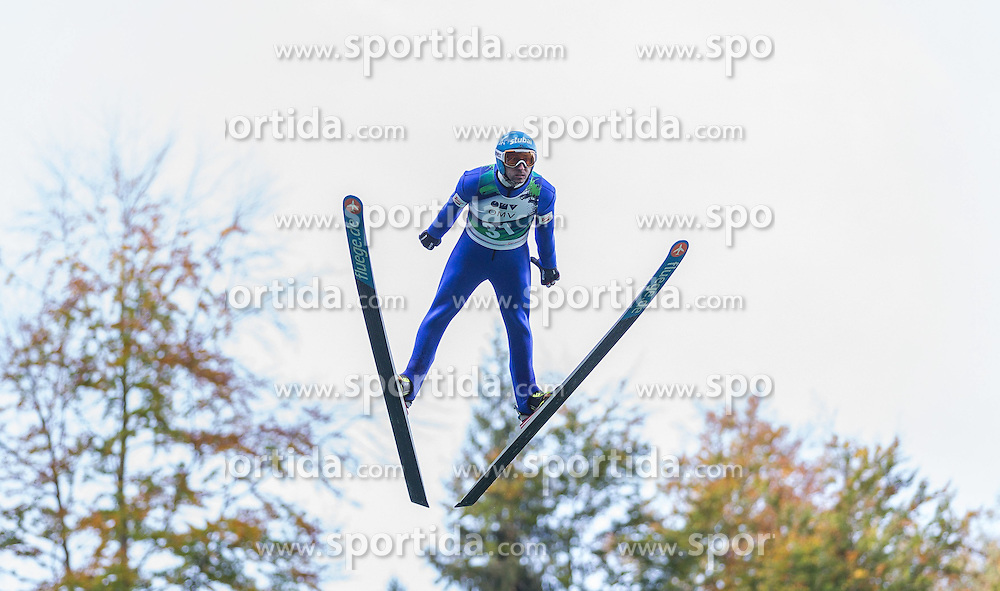 12.10.2014, Montafoner Schanzenzentrum, Tschagguns, AUT, OeSV, Oesterreichische Staatsmeisterschaften Ski Nordisch, im Bild Wilheim Denifl (AUT) // Wilheim Denifl of Austria during Austrian Nordic Ski Championships at the Montafoner Schanzenzentrum, Tschagguns, Austria on 2014/10/12. EXPA Pictures © 2014, EXPA/ Peter Rinderer