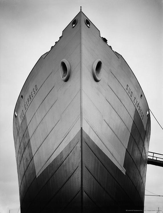 Keel of the 'Sud Expreso' in Shipyard, unknown location (possibly Deutsche Werft, Kiel), 1928