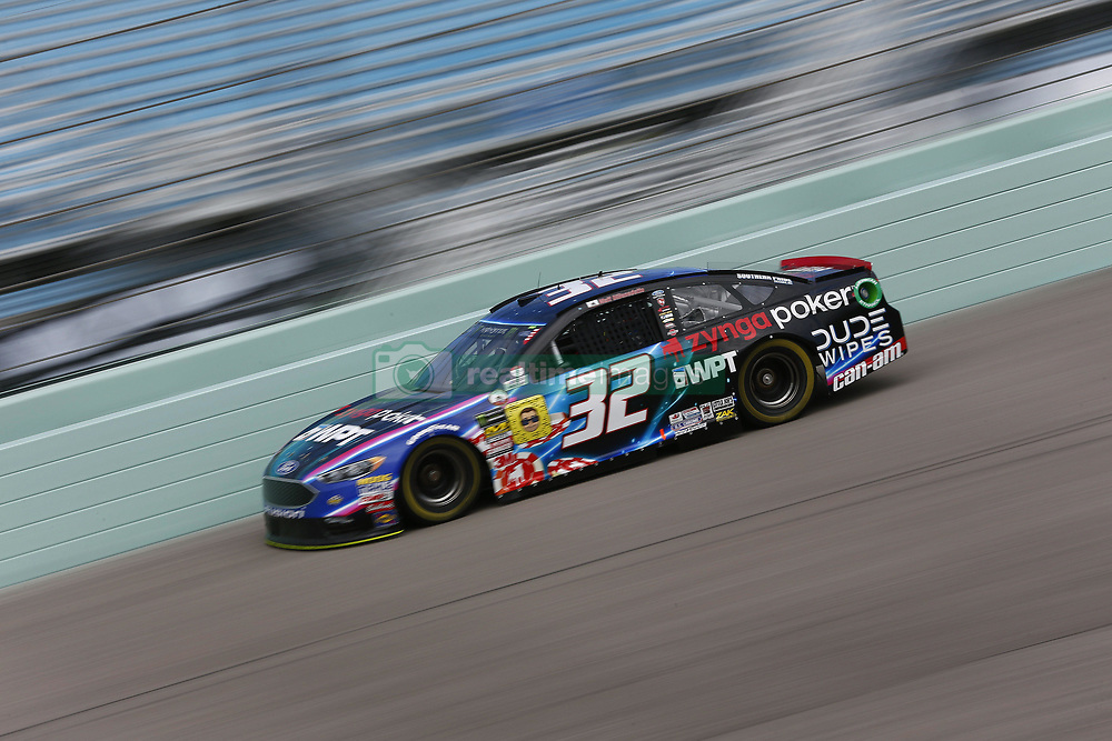 November 17, 2018 - Homestead, Florida, U.S. - Matt DiBenedetto (32) takes to the track to practice for the Ford 400 at Homestead-Miami Speedway in Homestead, Florida. (Credit Image: © Justin R. Noe Asp Inc/ASP)