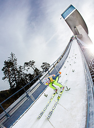 03.01.2014, Bergisel Schanze, Innsbruck, AUT, FIS Ski Sprung Weltcup, 62. Vierschanzentournee, Training, im Bild Kamil Stoch (POL) // Kamil Stoch (POL) during practice Jump of 62nd Four Hills Tournament of FIS Ski Jumping World Cup at the Bergisel Schanze, Innsbruck, <br /> Austria on 2014/01/03. EXPA Pictures © 2014, PhotoCredit: EXPA/ JFK