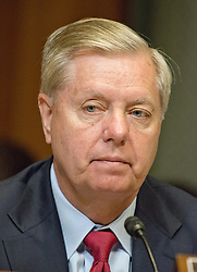 June 13, 2017 - Washington, District of Columbia, United States of America - United States Senator Lindsey Graham (Republican of South Carolina) listens as Rod J. Rosenstein, Deputy Attorney General, US Department of Justice, gives testimony before the US Senate Committee on Appropriations ''to review the President's Fiscal Year 2018 funding request and budget justification for the U.S. Department of Justice'' on Capitol Hill in Washington, DC on Tuesday, June 13, 2017..Credit: Ron Sachs / CNP (Credit Image: © Ron Sachs/CNP via ZUMA Wire)