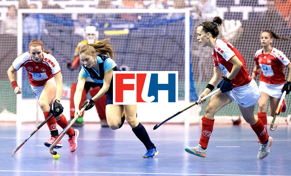 BERLIN - Indoor Hockey World Cup<br /> Quarterfinal 2: Ukraine - Switzerland<br /> foto: HONCHARENKO Olha.<br /> WORLDSPORTPICS COPYRIGHT FRANK UIJLENBROEK