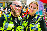 British Transport Police - The London Pride parade and event in Trafalgar Square.