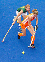 ARNHEM - Ellen Hoog , donderdag tijdens de oefenwedstrijd tussen de vrouwen van Nederland en Zuid Afrika. COPYRIGHT KOEN SUYK