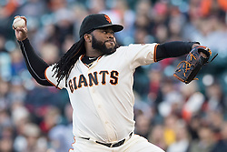 SAN FRANCISCO, CA - JULY 28: Johnny Cueto #47 of the San Francisco Giants pitches against the Washington Nationals during the first inning at AT&T Park on July 28, 2016 in San Francisco, California.  (Photo by Jason O. Watson/Getty Images) *** Local Caption *** Johnny Cueto