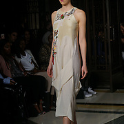 London, England, UK. 17th September 2017. Designer N&S GAIA Showcases lastest collection at FASHION SCOUT SS18 Day 3 at Freemasons Hall.