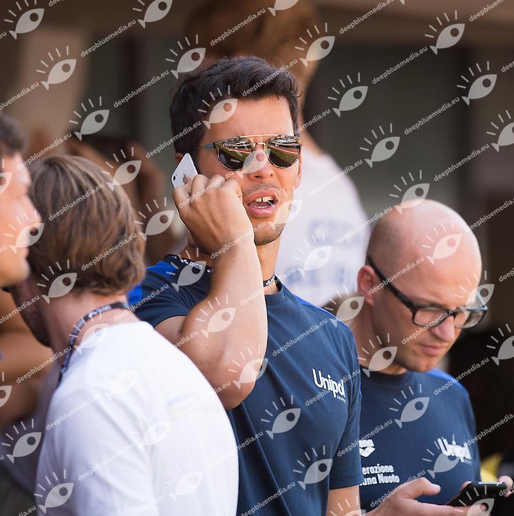 Matteo Giunta allenatore di Federica Pellegrini<br /> 51 Trofeo Settecolli Clear di nuoto - swimming<br /> Stadio del Nuoto Roma  Italy 13 - 15 June 2014<br /> Day 01 batterie heats<br /> Photo Rita Pannunzi/Deepbluemedia/Insidefoto