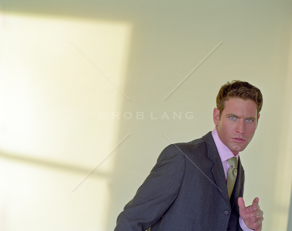 portrait of a handsome man in a suit