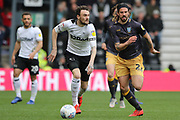 Derby County defender Scott Malone runs with the ball during the EFL Sky Bet Championship match between Derby County and Sheffield Wednesday at the Pride Park, Derby, England on 9 March 2019.